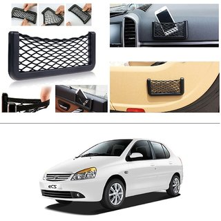 AutoStark Storage Bag Box Car Seat Side Back Net Phone Holder Pocket Organizer For Tata Indigo Cs