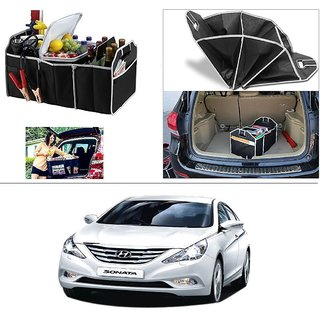 AutoStark Foldable Car Auto Back Rear Trunk Seat Big Storage Bag Pocket Cage Organizer For Hyundai Sonata