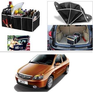 AutoStark Foldable Car Auto Back Rear Trunk Seat Big Storage Bag Pocket Cage Organizer For Tata Indigo Ecs
