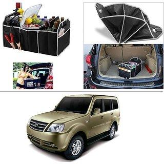 AutoStark Foldable Car Auto Back Rear Trunk Seat Big Storage Bag Pocket Cage Organizer For Tata Sumo Grande