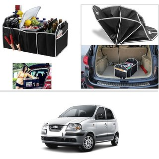 AutoStark Foldable Car Auto Back Rear Trunk Seat Big Storage Bag Pocket Cage Organizer For Hyundai Santro Xing