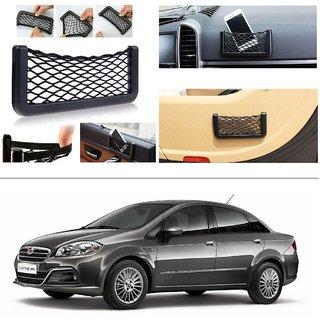AutoStark Storage Bag Box Car Seat Side Back Net Phone Holder Pocket Organizer For Fiat Linea (2015 Upwards)