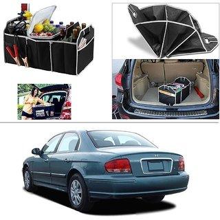 AutoStark Foldable Car Auto Back Rear Trunk Seat Big Storage Bag Pocket Cage Organizer For Hyundai Sonata Gold