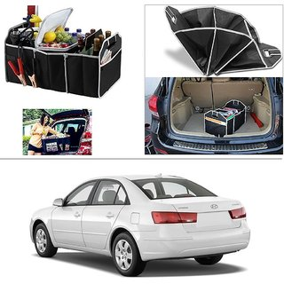 AutoStark Foldable Car Auto Back Rear Trunk Seat Big Storage Bag Pocket Cage Organizer For Hyundai Sonata Embera