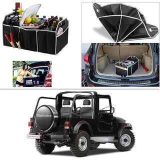 AutoStark Foldable Car Auto Back Rear Trunk Seat Big Storage Bag Pocket Cage Organizer For Mahindra Thar