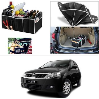 AutoStark Foldable Car Auto Back Rear Trunk Seat Big Storage Bag Pocket Cage Organizer For Mahindra Verito
