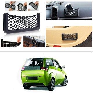 AutoStark Storage Bag Box Car Seat Side Back Net Phone Holder Pocket Organizer For Mahindra E2o (reva)