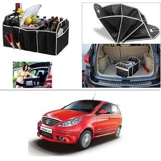 AutoStark Foldable Car Auto Back Rear Trunk Seat Big Storage Bag Pocket Cage Organizer For Tata Vista Tech
