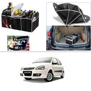 AutoStark Foldable Car Auto Back Rear Trunk Seat Big Storage Bag Pocket Cage Organizer For Tata V2 Turbo