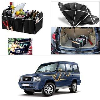 AutoStark Foldable Car Auto Back Rear Trunk Seat Big Storage Bag Pocket Cage Organizer For Tata Sumo