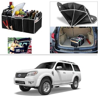 AutoStark Foldable Car Auto Back Rear Trunk Seat Big Storage Bag Pocket Cage Organizer For Ford Endeavour