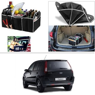 AutoStark Foldable Car Auto Back Rear Trunk Seat Big Storage Bag Pocket Cage Organizer For Ford Fusion