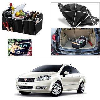 AutoStark Foldable Car Auto Back Rear Trunk Seat Big Storage Bag Pocket Cage Organizer For Fiat Linea (Prior 2014)