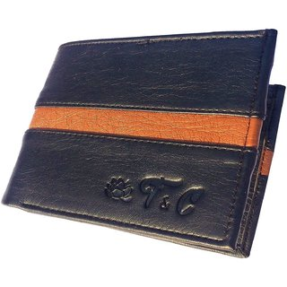 Friends & Company Unique Black PU Wallet For Men -StyleCodeFC29