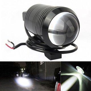 STAR SHINE Single U1 LED Motorycle Fog Light Bike Projector Auxillary Spot Beam Light (Black, 1Pc) For TVS Sport 100