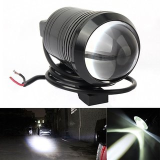STAR SHINE Single U1 LED Motorycle Fog Light Bike Projector Auxillary Spot Beam Light (Black, 1Pc) For TVS Jive