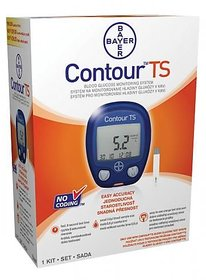 Bayer Contour TS Blood Glucometer with 50 Test Strips