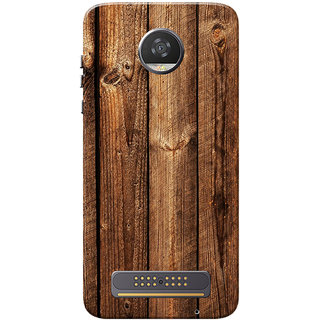 detailed look 61189 fab5c Moto Z2 Play Case, Dark Brown Wood Slim Fit Hard Case Cover/Back Cover for  Motorola Moto Z2 Play