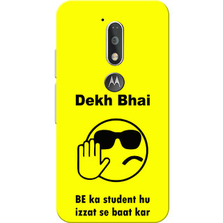 Moto G4 Plus, Moto G4 Case, Dekh Bhai Yellow Slim Fit Hard Case Cover/Back  Cover for Moto G4 Plus/Motorola Moto G4/Moto G Plus 4th Gen/Moto G 4th Gen