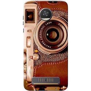 half off 55ce0 f4059 Moto Z2 Play Case, Vintage Camera Slim Fit Hard Case Cover/Back Cover for  Motorola Moto Z2 Play