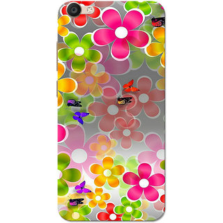 info for 61e30 1e080 Vivo Y55 Case, Multi Colour Flowers Slim Fit Hard Case Cover/Back Cover for  Vivo Y55