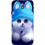Samsung J7 Pro Case, Cute Kitten Blue Slim Fit Hard Case Cover/Back Cover for Samsung J7 Pro Case
