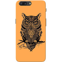 OnePlus 5 Case, One Plus 5 Case, Owl Orange Slim Fit Hard Case Cover/Back Cover for OnePlus 5