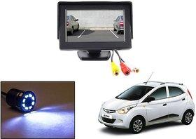 Reverse Parking Camera Display Combo For Hyundai Eon - Night Vision Camera with 4.3 inch LCD TFT Monitor Display