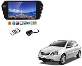 7 Inch Full HD Bluetooth LED Video Monitor Screen with USB , Bluetooth + 8 LED Reverse Parking Camera For Tata Indigo eCS