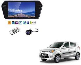 Universal Full HD 7 Inch Rear View Car Monitor With 8 LED Backup Camera for Maruti Suzuki New Alto 800 Black LED