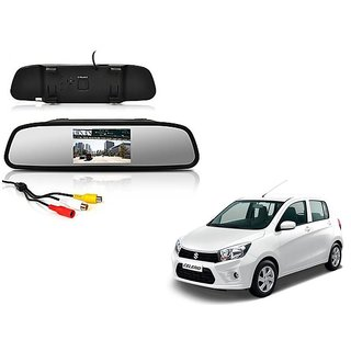4.3 Inch Rear View TFT LCD Monitor Mirror Screen Display For Reverse Parking and Rear View For Maruti Suzuki Celerio