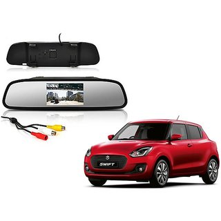 4.3 Inch Rear View TFT LCD Monitor Mirror Screen Display For Reverse Parking and Rear View For Maruti Suzuki Swift New 2018
