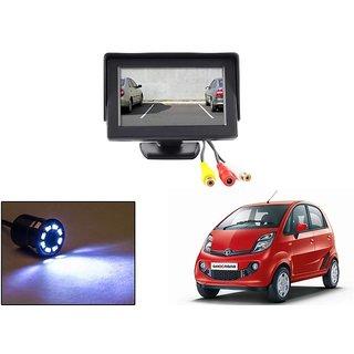 Reverse Parking Camera Display Combo For Tata Nano - Night Vision Camera with 4.3 inch LCD TFT Monitor Display