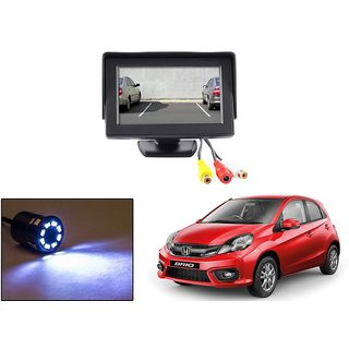 Reverse Parking Camera Display Combo For Honda Brio - Night Vision Camera with 4.3 inch LCD TFT Monitor Display
