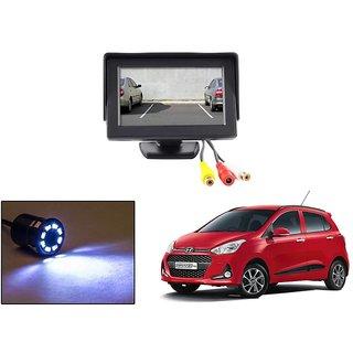 Reverse Parking Camera Display Combo For Hyundai Grand i10 - Night Vision Camera with 4.3 inch LCD TFT Monitor Display