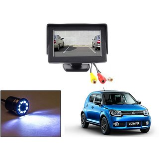 Reverse Parking Camera Display Combo For Maruti Suzuki Ignis - Night Vision Camera with 4.3 inch LCD TFT Monitor Display