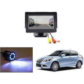 Reverse Parking Camera Display Combo For Maruti Suzuki Swift Dezire - Night Vision Camera with 4.3 inch LCD TFT Monitor Display