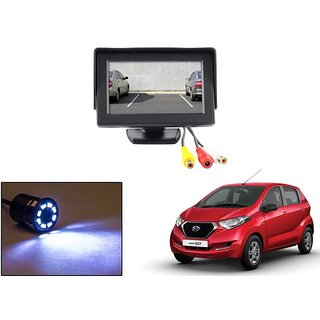 Reverse Parking Camera Display Combo For Datsun Redi Go - Night Vision Camera with 4.3 inch LCD TFT Monitor Display