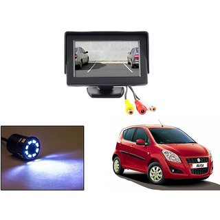 Reverse Parking Camera Display Combo For Maruti Suzuki Ritz - Night Vision Camera with 4.3 inch LCD TFT Monitor Display