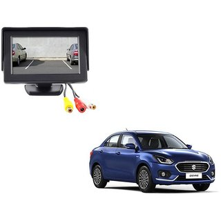 4.3 inch LCD TFT Standing Monitor Display For Maruti Suzuki Swift Dezire 2017  - Useful For Reverse Parking Camera Output or Any Video Output