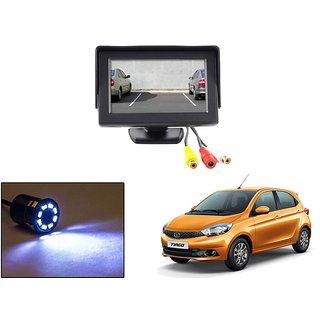 Reverse Parking Camera Display Combo For Tata Tiago - Night Vision Camera with 4.3 inch LCD TFT Monitor Display