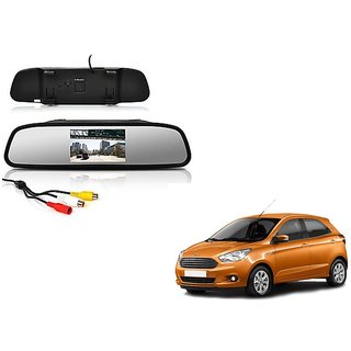 4.3 Inch Rear View TFT LCD Monitor Mirror Screen Display For Reverse Parking and Rear View For Ford Figo