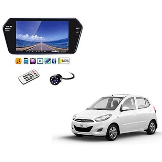 7 Inch Full HD Bluetooth LED Video Monitor Screen with USB , Bluetooth + 8 LED Reverse Parking Camera For Hyundai i10