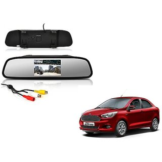 4.3 Inch Rear View TFT LCD Monitor Mirror Screen Display For Reverse Parking and Rear View For Ford Figo Aspire