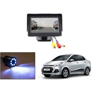 Reverse Parking Camera Display Combo For Hyundai Xcent - Night Vision Camera with 4.3 inch LCD TFT Monitor Display