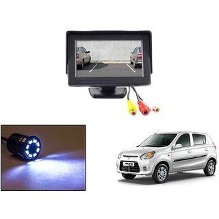 Reverse Parking Camera Display Combo For Maruti Suzuki Alto 800 - Night Vision Camera with 4.3 inch LCD TFT Monitor Display