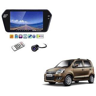7 Inch Full HD Bluetooth LED Video Monitor Screen with USB , Bluetooth + 8 LED Reverse Parking Camera For Maruti Suzuki Wagon R