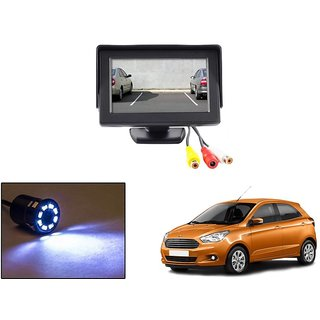 Reverse Parking Camera Display Combo For Ford Figo - Night Vision Camera with 4.3 inch LCD TFT Monitor Display