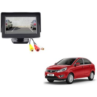 4.3 inch LCD TFT Standing Monitor Display For Tata Zest  - Useful For Reverse Parking Camera Output or Any Video Output
