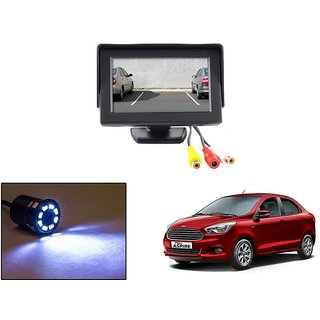 Reverse Parking Camera Display Combo For Ford Figo Aspire - Night Vision Camera with 4.3 inch LCD TFT Monitor Display